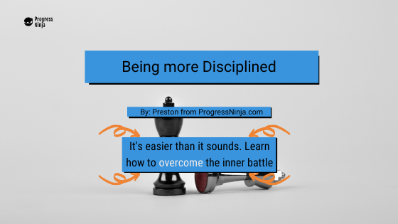 being disciplined banner