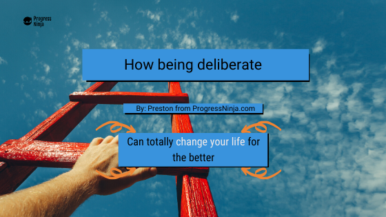 Being deliberate banner