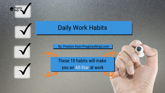 Daily work habits banner