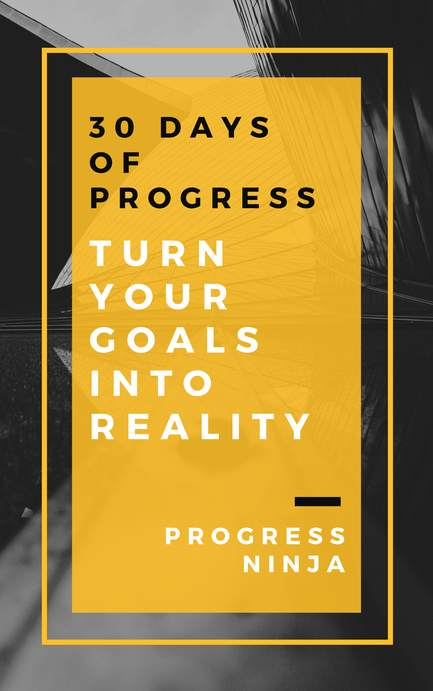 30 days of progress book cover